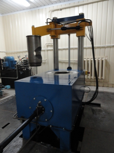HYDROSTATIC  PRESS FOR PRESSING WITH FORCE 6.3 MN,  PRESSURE OF 200 MPA.